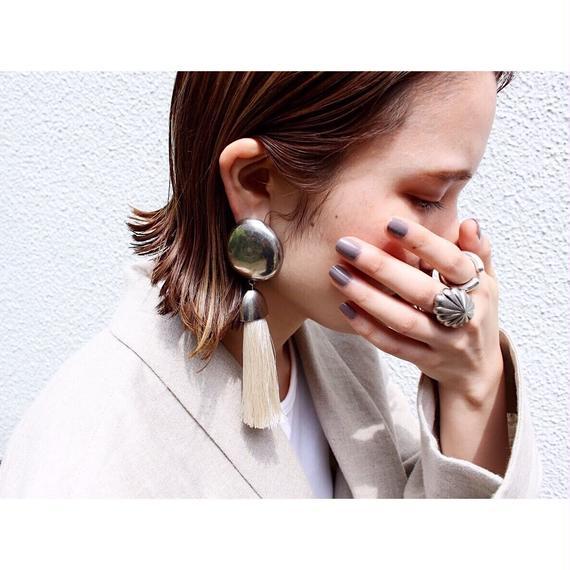 Tassel earing (asymmetry / Ivory)