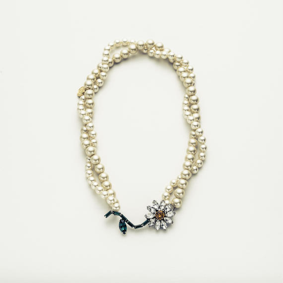 Color flower Pearl necklace