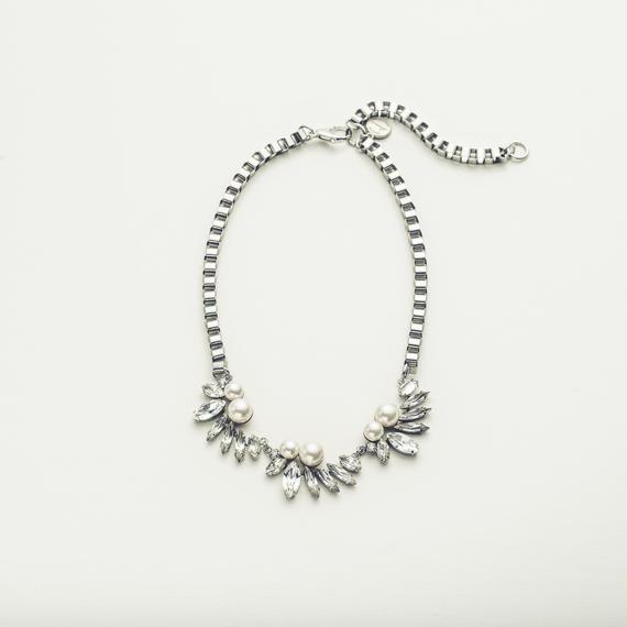 Drop bijou necklace (3motif)