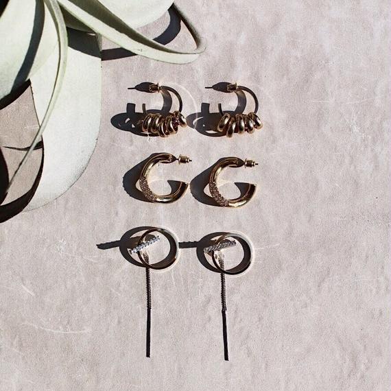 Étoile bijou hoop pierce (Small / 2P)