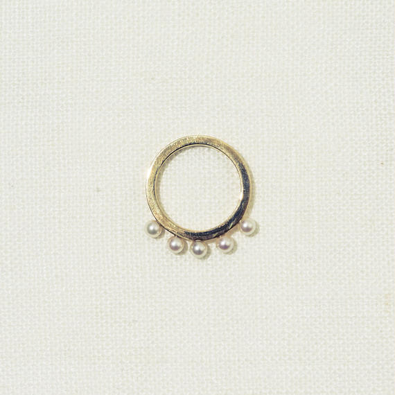 「Dresden」 circle pearl ring / #9
