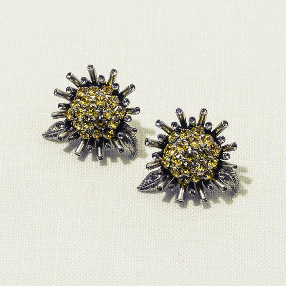 Sun flower earing (Yellow)