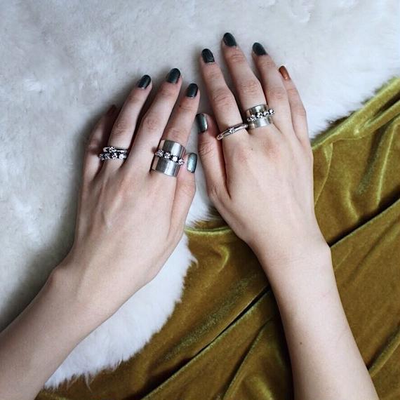 Plate bijou ring (Long)