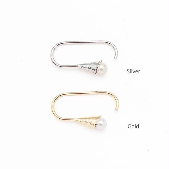 Horn pearl ring[ Horn bloom series]
