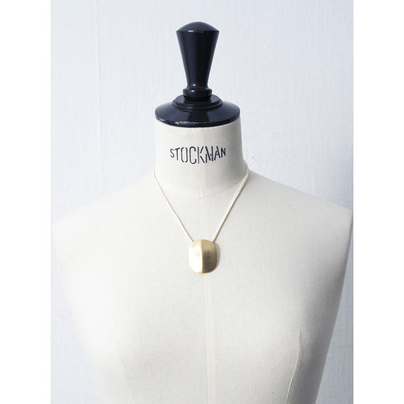 Dead stock motif necklace (Leather)
