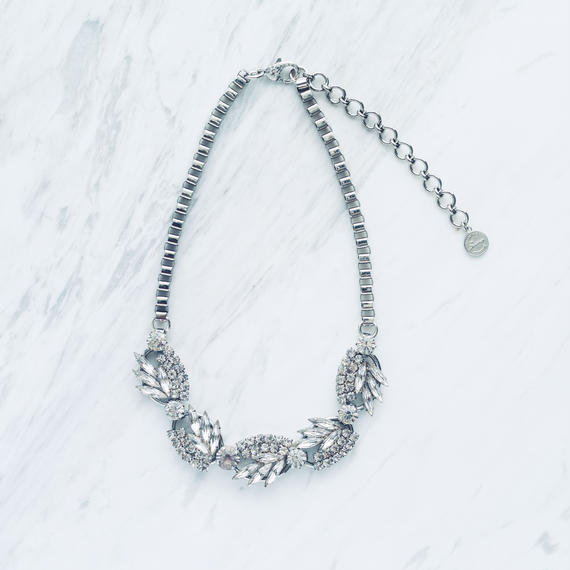 Silver pine necklace