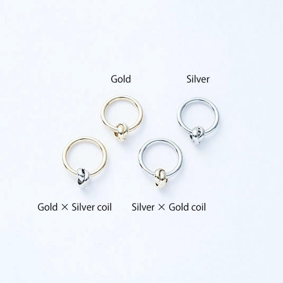 Coil knot ring