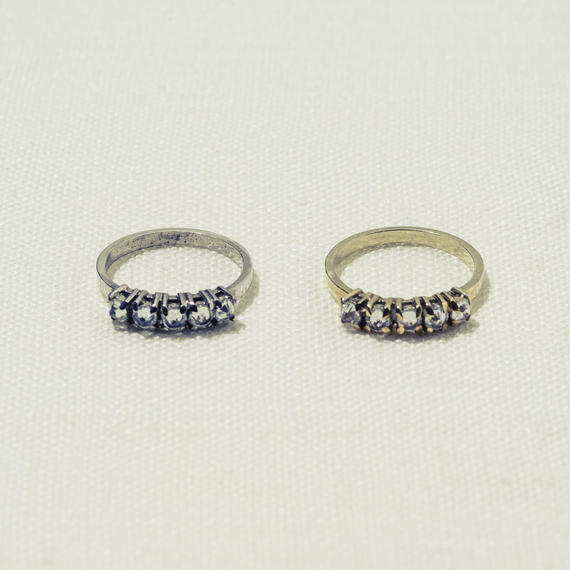 「Dresden」 5粒 zirconia ring / Gold