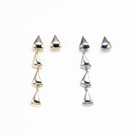 Metal stone long earing (Triangle4+1)