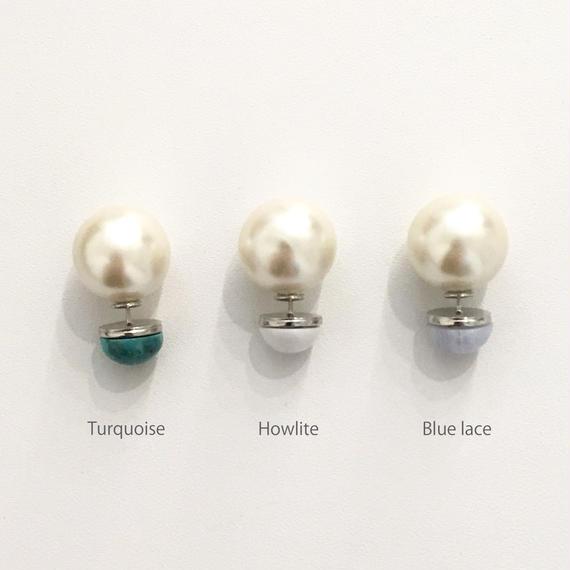 Stone pearl pierce (1P/16mm Pearl)