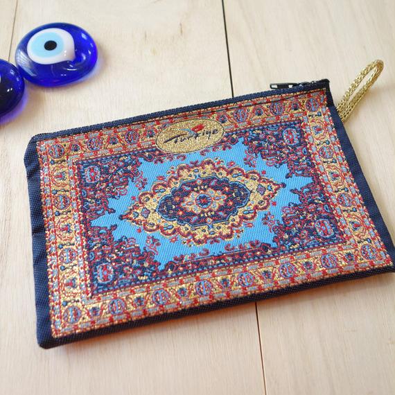 ★ nazapc27     トルコの絨毯柄やタイル柄を再現したトルコデザインポーチ