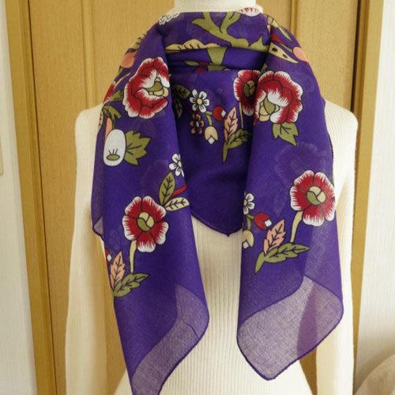turcl9   繊維の宝庫トルコのふわっと軽いコットンスカーフ(マリベリー)L