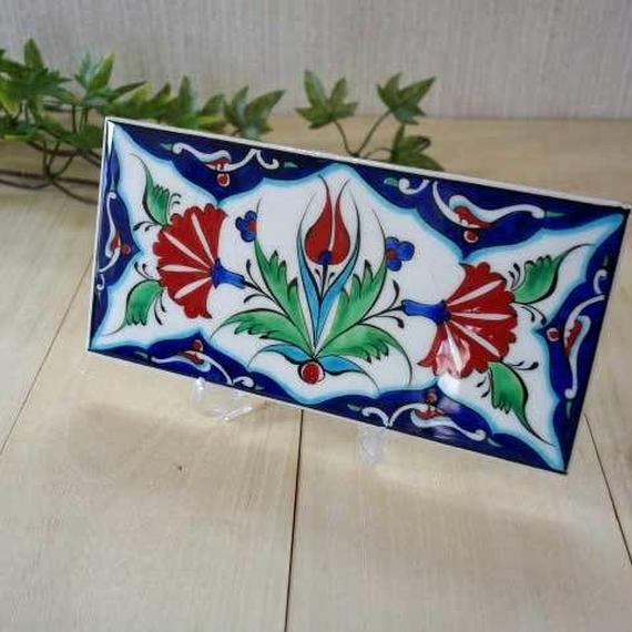 tile-a11  ★トルコ手描きのタイル(トルコの国花カーネーションのデザイン)