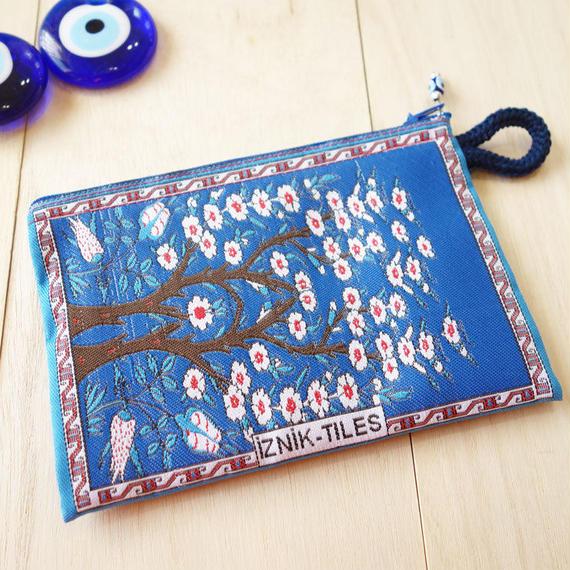 ★ nazapc40 トルコの絨毯柄やタイル柄を再現したトルコデザインポーチ