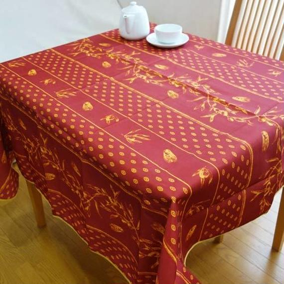 pv021-150         プロヴァンス テーブルクロス 正方形150×150(セミとオリーブレッド)