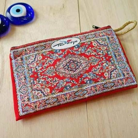 ★ nazapc17     トルコの絨毯柄やタイル柄を再現したトルコデザインポーチ