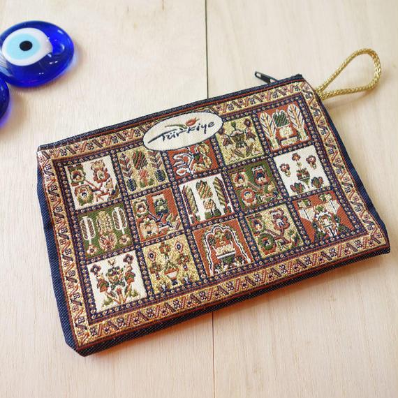 ★ nazapc36     トルコの絨毯柄やタイル柄を再現したトルコデザインポーチ