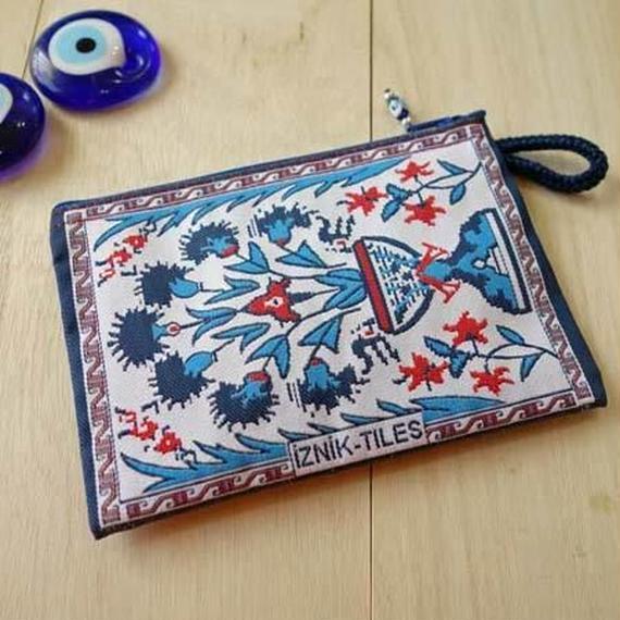 ★ nazapc38     トルコの絨毯柄やタイル柄を再現したトルコデザインポーチ