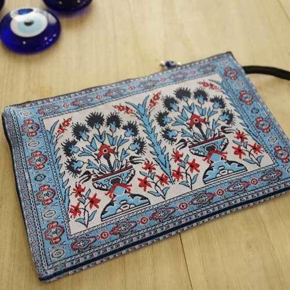 ★ nazapc11   トルコの絨毯柄やタイル柄を再現したトルコデザインポーチ