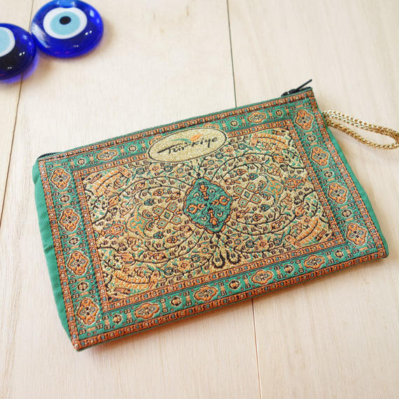 ★ nazapc21     トルコの絨毯柄やタイル柄を再現したトルコデザインポーチ