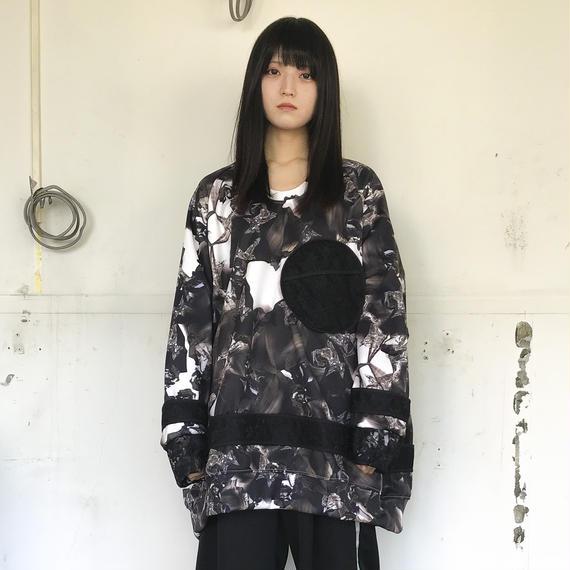BALMUNG / サークルポケットグラフィックジャージー / 銀花(白)