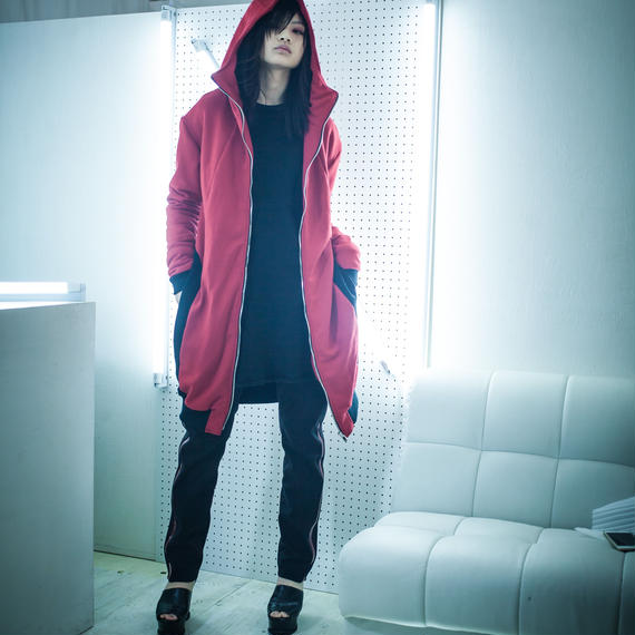 NICK NEEDLES / LONG ZIP PARKA / RED