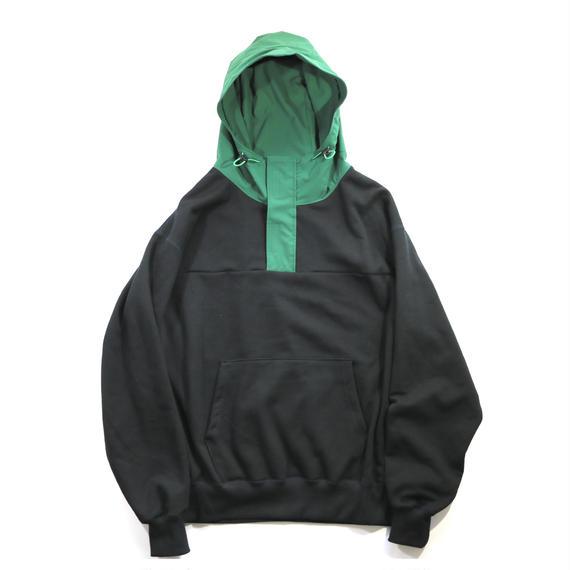 elephant TRIBAL fabrics /   マウンテンパーカースウェット / ブラック×グリーン