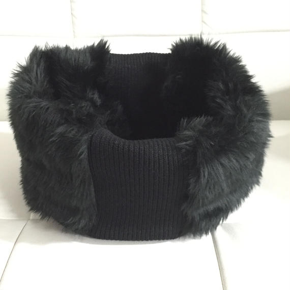 NICK NEEDELS FUR SNOOD BLACK