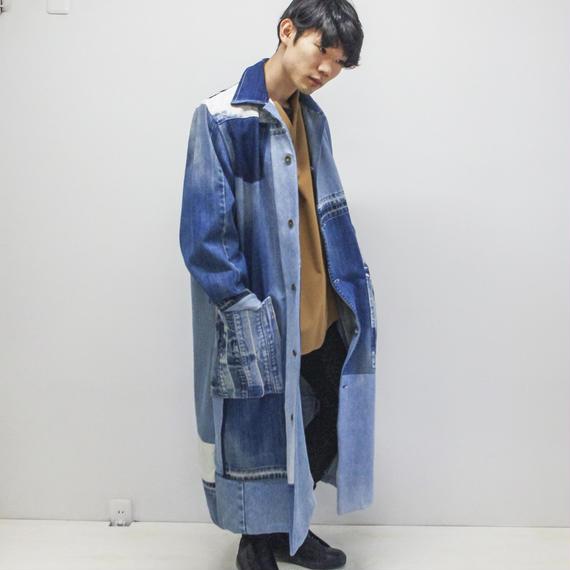 SHUTTLE / DENIM PATCH-WORK coat
