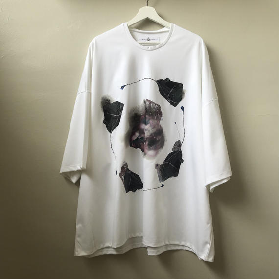 BALMUNG / プリントビッグTシャツ/ 駐車場 / WHITE