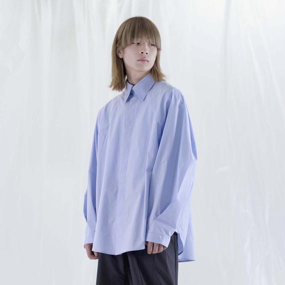 chloma / シェルスリーブシャツ/ サックス