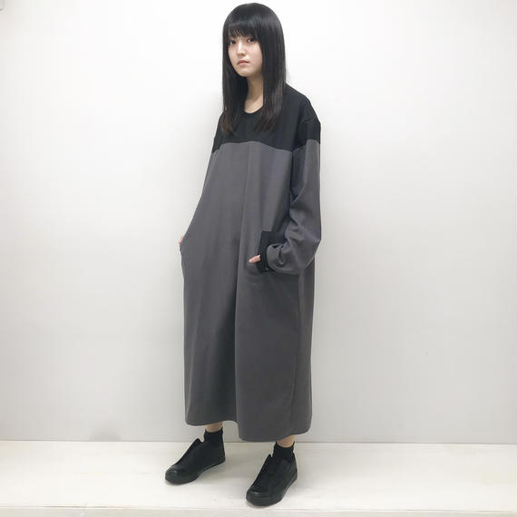 NICK NEEDLES / LONG ONE PIECE / GRAY×BLACK