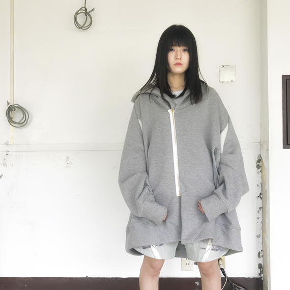 BALMUNG / ビッグパーカーファースト / 灰 /銀花
