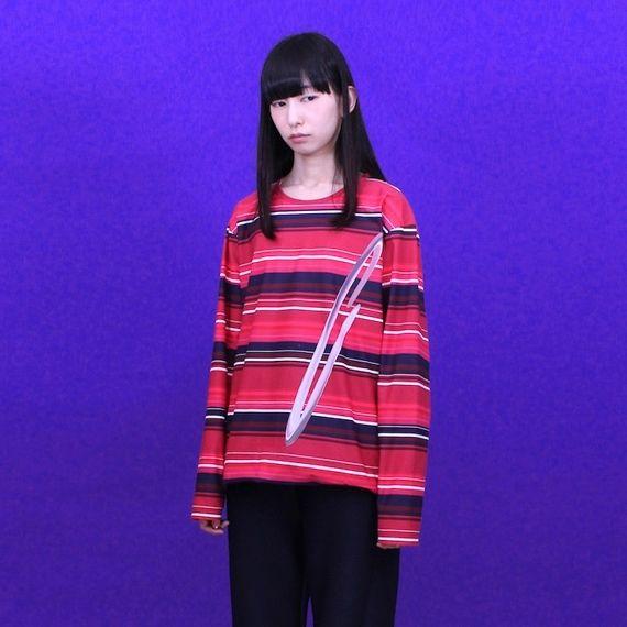 chloma/  ATボーダーTシャツ
