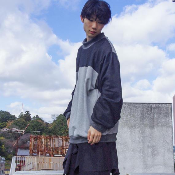 SHUTTLE /ムートンスウェット(black/gray)