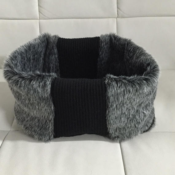 NICK NEEDELS FUR SNOOD GRAY