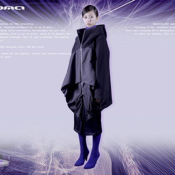 chloma/ネオフラットコンプレックスパーカー(ブラック)