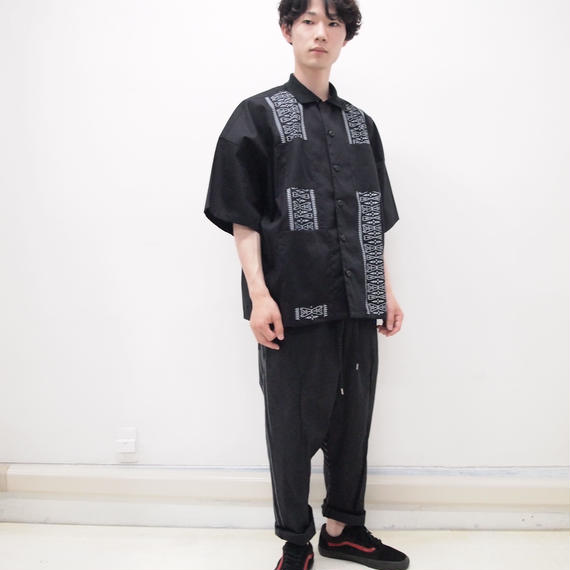 elephant TRIBAL fabrics キューバシャツ