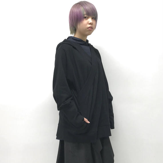 -niitu- / フード付きPO / black