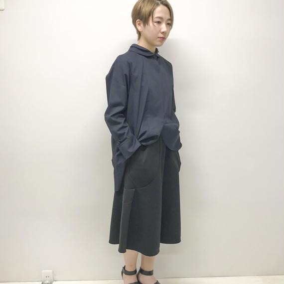 -niitu- / うちわパンツ / BLACK