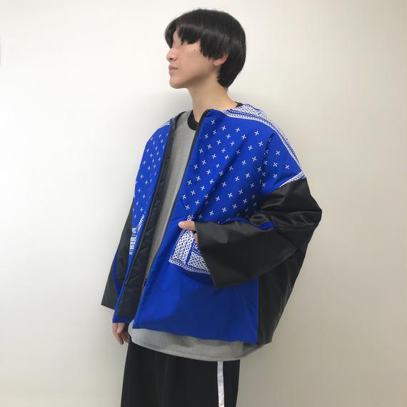 elephant TRIBAL fabrics / ナイロンブルゾン / ブルー