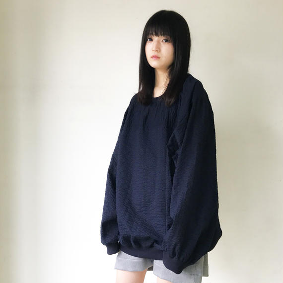 SHUTTLE/wave pull-over/NAVY