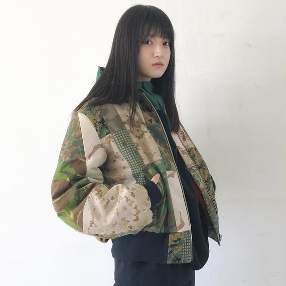 TAKAYA HIOKI / ミリタリーパッチワークMA-1