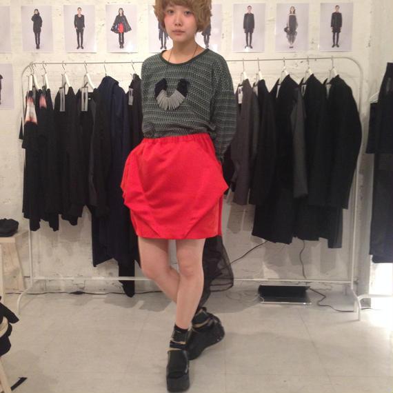 NICK NEEDLES Asymmetry Skirt Red