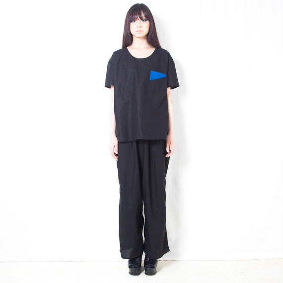 NICK NEEDLES / COTTON LINEN WIDE PANTS / BLACK