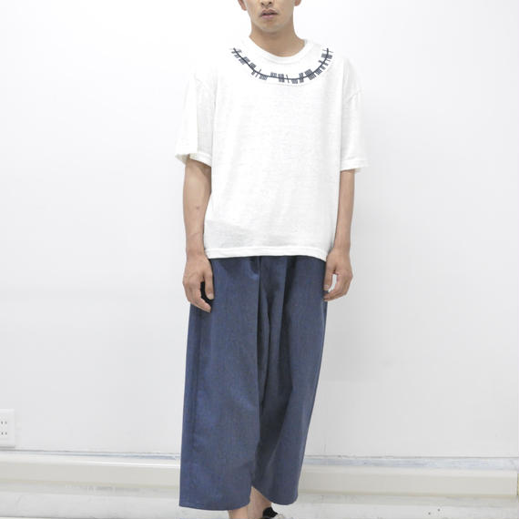 SHUTTLE wide pants NAVY