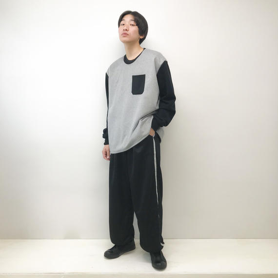 NICK NEEDLES / WOOL  SWEAT / GRAY×BLACK