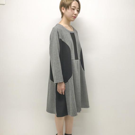 -niitu- / うちわワンピース / GRAY