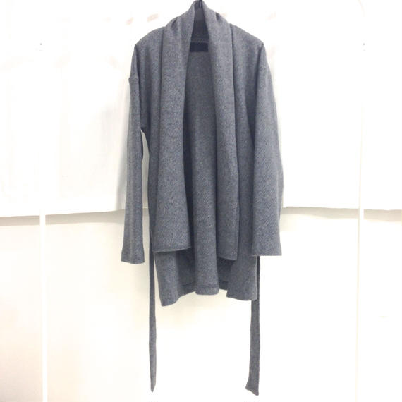 you ozeki gray knit coat
