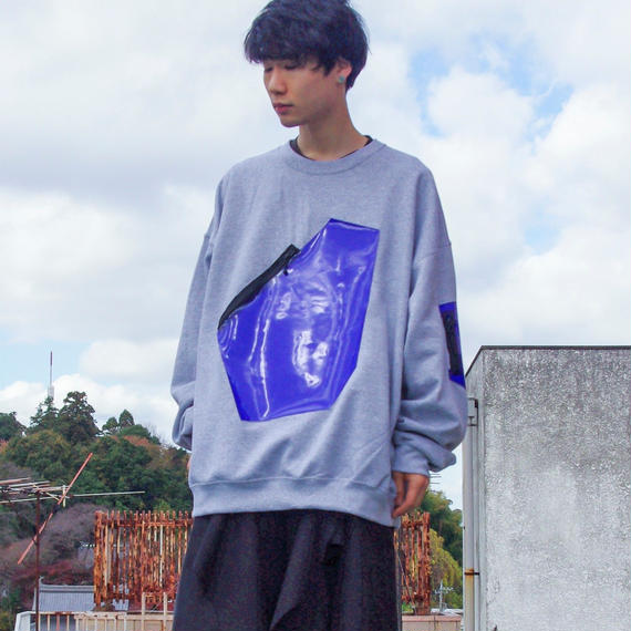 NICK NEEDLES / Harmony Sweat / GRAY×BLUE